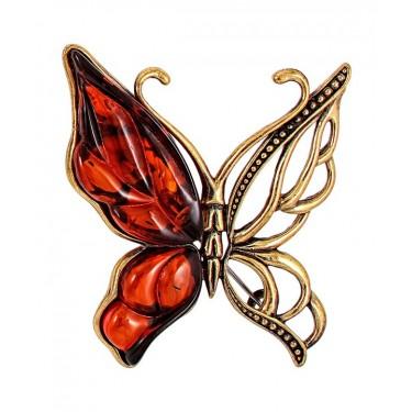 Брошь Бабочка Лимонка 2105.4