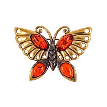 Брошь Бабочка Бусинка 2201.4