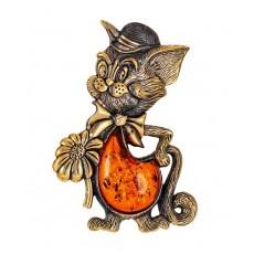 Брошь Кот Том 1796.4
