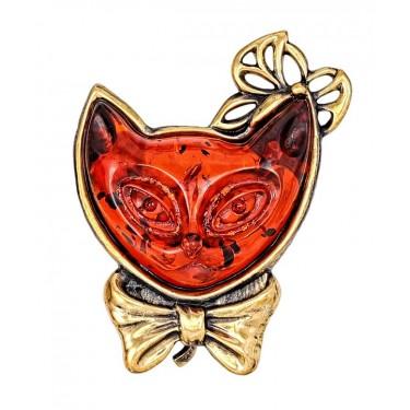 Брошь Кошка Кити 2193.4