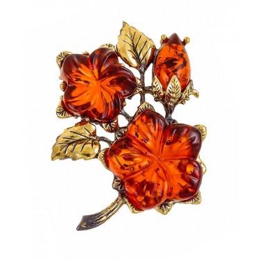 Брошь Цветок Петуния 2139.4