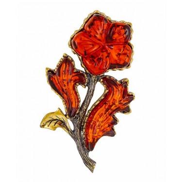 Брошь Цветок Броваллия 2140.4