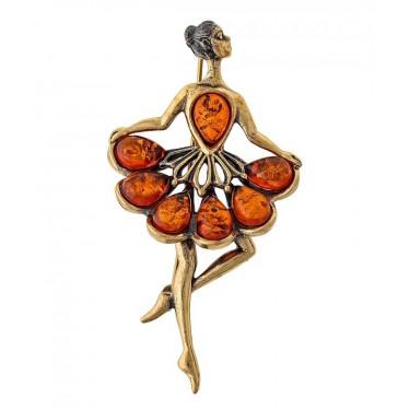 Брошь Балерина в пачке 1635.4