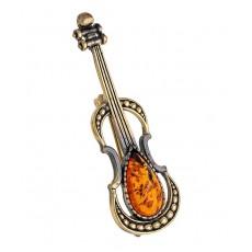 Брошь Скрипка Страдивари 1637.4