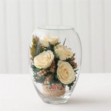 FIORA Арт:51968(ERVS-Rw) цветы в стекле