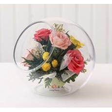 FIORA Арт: 54907 цветы в стекле