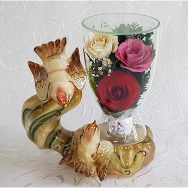 """NaturalFlowers"" Арт: CuLR5c цветы в стекле"