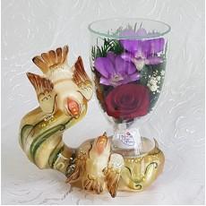 """NaturalFlowers"" Арт: CuLM цветы в стекле"