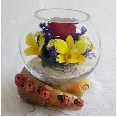 """""""NaturalFlowers"""" Арт: BSM3 цветы в стекле"""
