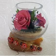 """""""NaturalFlowers"""" Арт:BSRp цветы в стекле"""