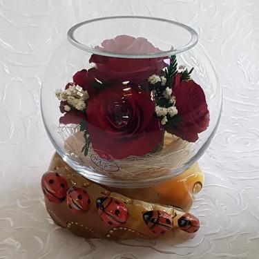 """""""NaturalFlowers"""" Арт: BSR цветы в стекле"""
