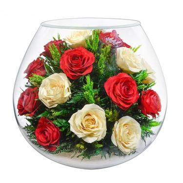 """""""NaturalFlowers"""" Арт: BBR5c цветы в стекле"""