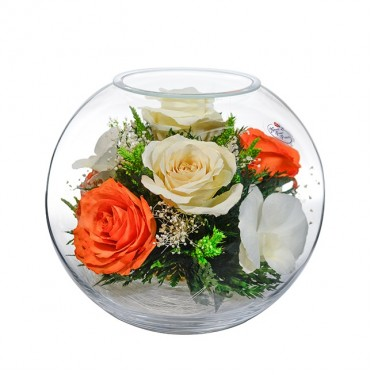 """""""NaturalFlowers"""" Арт: BNM-7 цветы в стекле"""