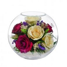 """NaturalFlowers"" Арт: BNR5c2 цветы в стекле"