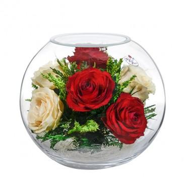 """NaturalFlowers"" Арт: BNR5c3 цветы в стекле"