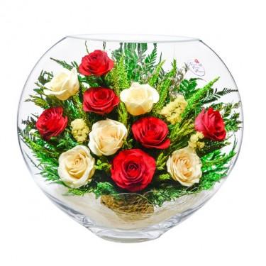 """NaturalFlowers"" Арт: ELR5c-03 цветы в стекле"