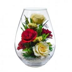 """NaturalFlowers"" Арт:FMR5c1 цветы в стекле"