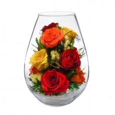 """NaturalFlowers"" Арт:FMR5c2 цветы в стекле"