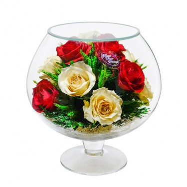 """NaturalFlowers"" Арт: GJR5c-2 цветы в стекле"