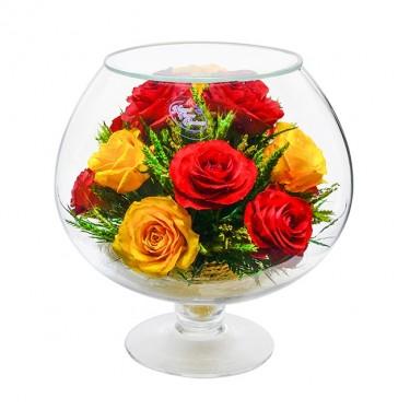 """NaturalFlowers"" Арт: GJR5c4 цветы в стекле"