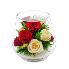 """NaturalFlowers"" Арт: KLR5c цветы в стекле"