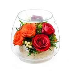 """NaturalFlowers"" Арт: KMR5c цветы в стекле"