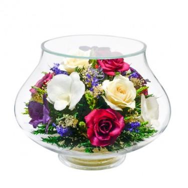 """""""NaturalFlowers"""" Арт: LLM7 цветы в стекле"""