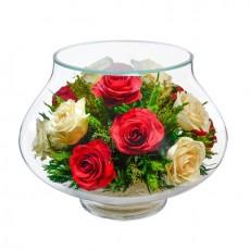 """NaturalFlowers"" Арт: LLR5c3 цветы в стекле"