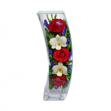 """NaturalFlowers"" Арт: SqCM цветы в стекле"