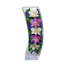 """NaturalFlowers"" Арт: SqCO-3 цветы в стекле"