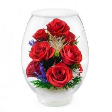"""NaturalFlowers"" Арт: VSR цветы в стекле"